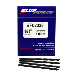 Blue-force-Brocas-Para-Metal-10 Piezas